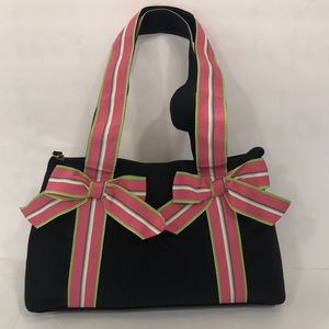 Mercer and Madison Black Bag with Pink Bows